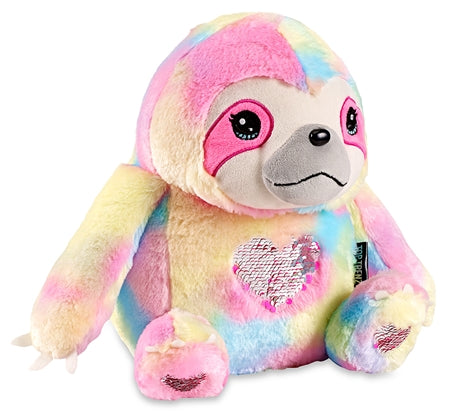Sloth Stuffie with Flip Sequin Hearts