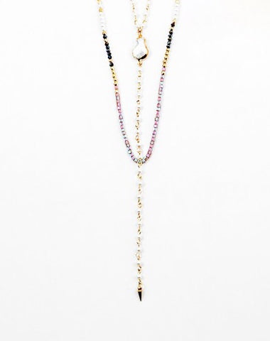 Pearl and Bead Lariat
