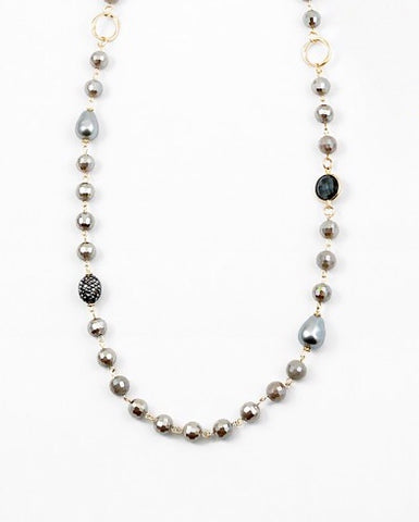 Pearls and Stones Necklace