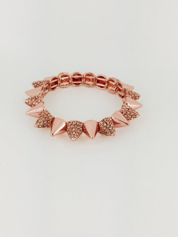 Rose Gold Pave Spike - Onyx and Blush