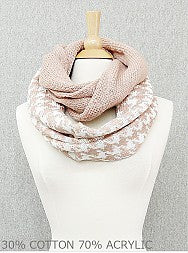 Two-Toned Cozy Infinity Scarf - Onyx and Blush  - 2