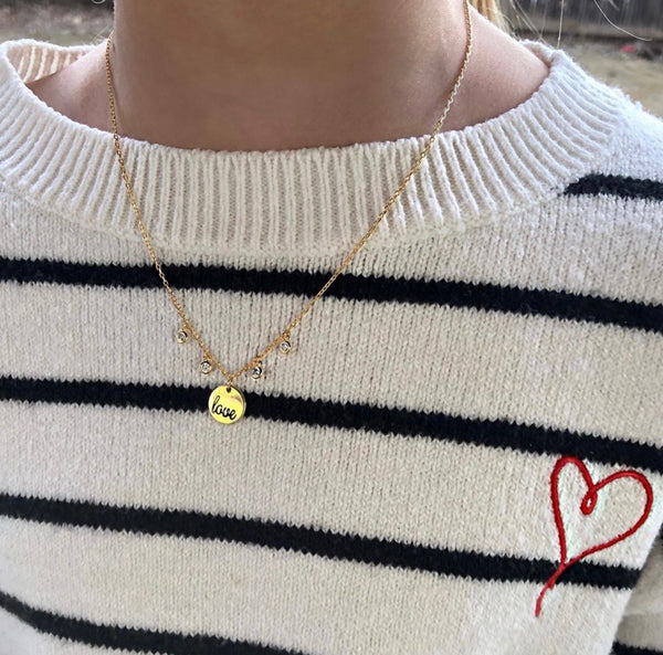 Love Coin Necklace (STERLING)