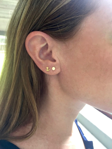 Petite Studs - Onyx and Blush  - 3