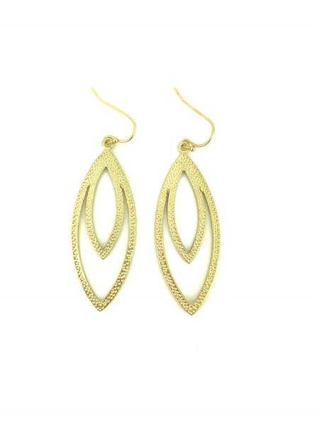 Textured Oblong Oval Earrings