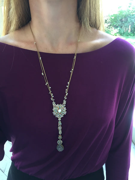 Druzy Flower Necklace