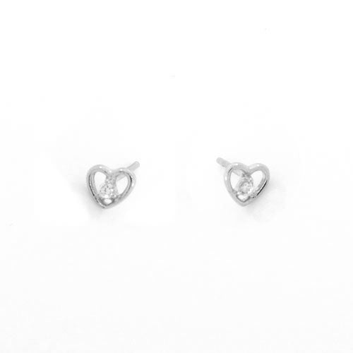 Open Hearts with CZ - Onyx and Blush  - 3