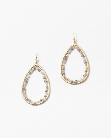 Crystal Beaded Teardrop Earrings