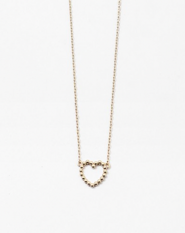 Dainty Beaded Heart