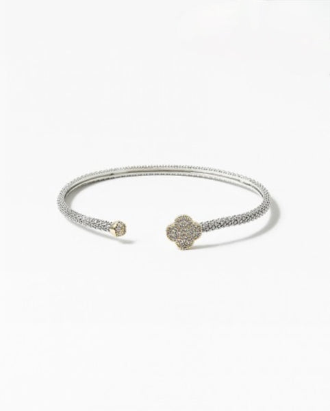 Open Clover Bangle
