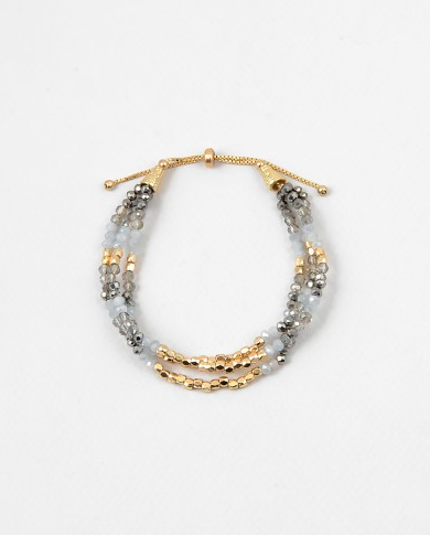 Crystal Beaded Pull Bracelet