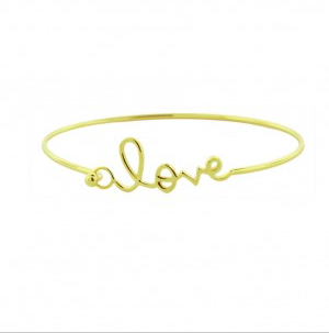 Love Bangle - Onyx and Blush  - 1