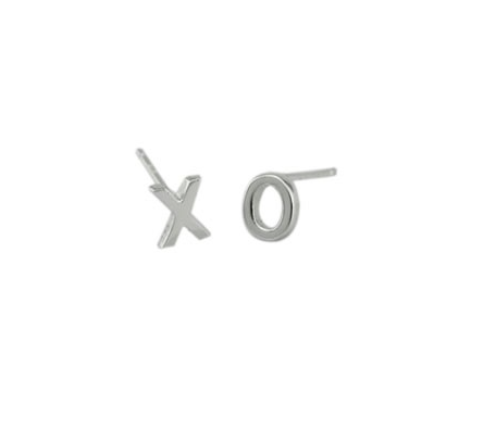 Plain XO Studs - Onyx and Blush  - 1
