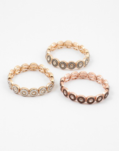 Two-Toned Stretch Bracelet