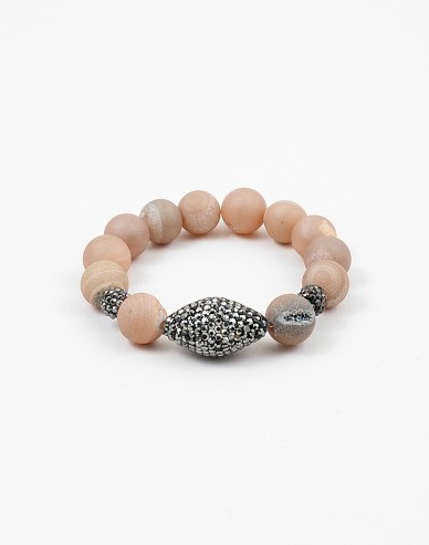 Lava Beads with Black Pave