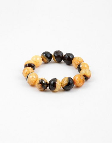 Large Two Tone Stretch Bracelet