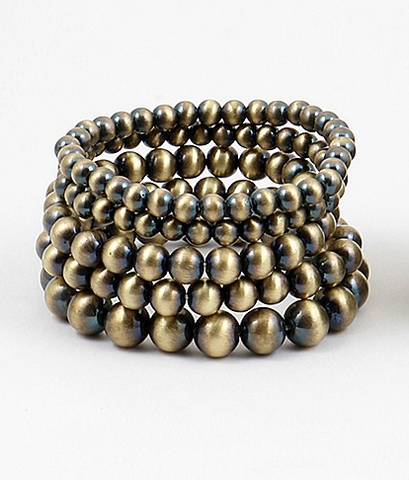 Bronze Stackable Beaded Bracelets