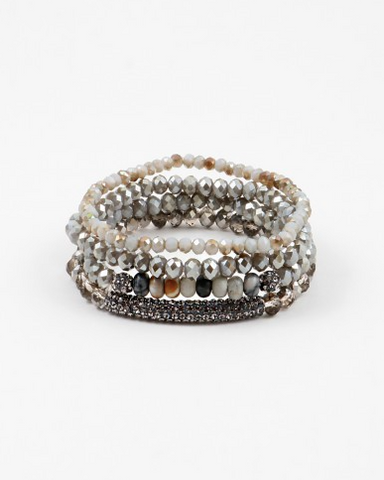 Crystal Mix Multi Layered Bracelet