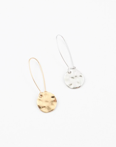 Simple Hammered Coin Earrings