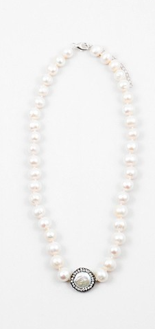 One Step Up Pearl Necklace