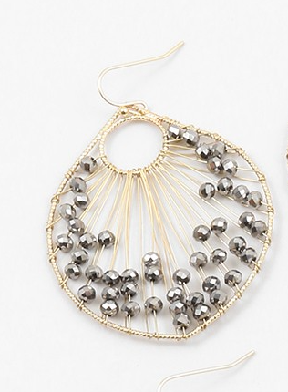 Crystal Fan Earrings