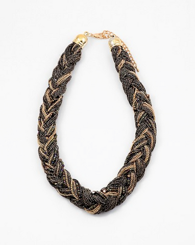 Braided Black/Gold Necklace