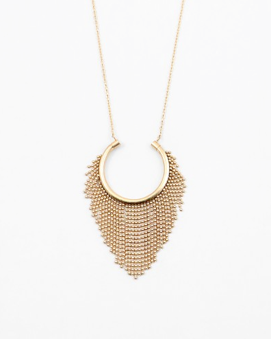 Long Horseshoe Fringe Necklace