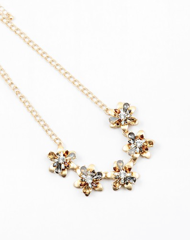 Topaz Flower Statement Necklace