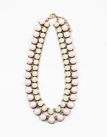 Double Stone Statement Necklace