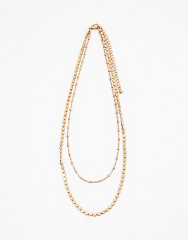 Double Layer Dainty Gold Necklace