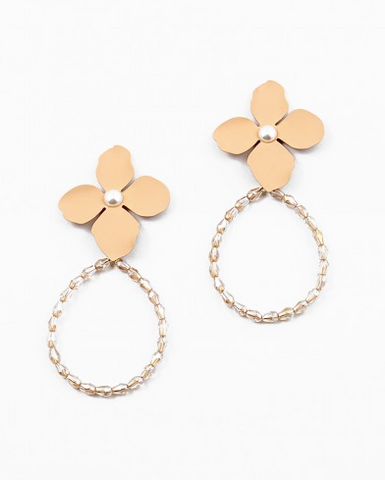 Looped Flower Earrings
