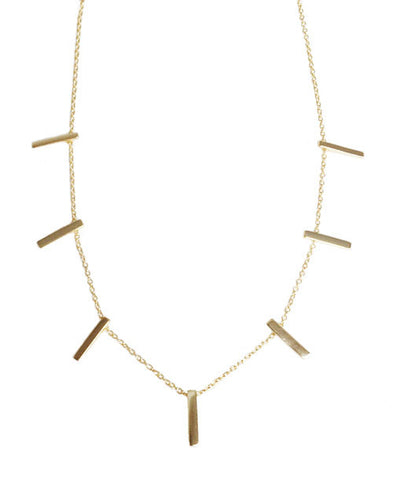 Solid T-Bars Necklace