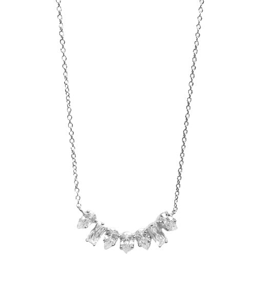 Mixed CZ Shapes Necklace