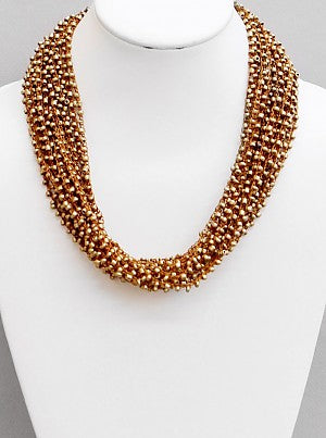 Threaded Beads Necklace