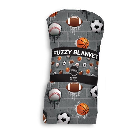 Sports City Fuzzy Throw Blanket