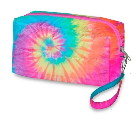 Tie Dye Puffer Cosmetics Bag (various)