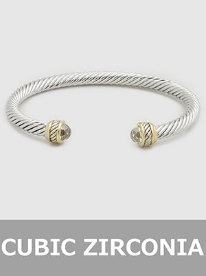 Open Twist Cable Bangle