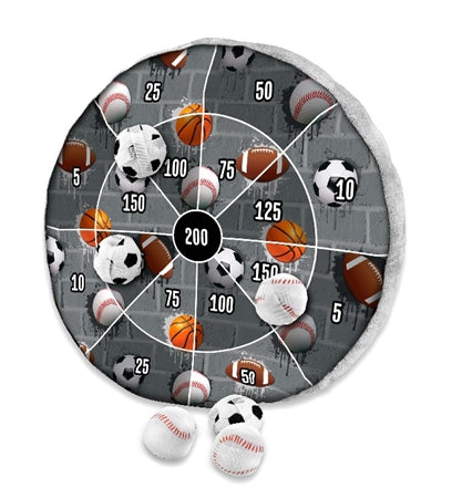 Sport City Dart Game Plush Pillow