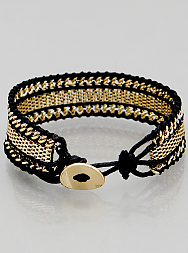 Box Chain Rope Bracelets - Onyx and Blush  - 1