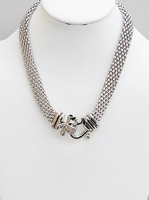 Mesh Magnetic Hook Necklace