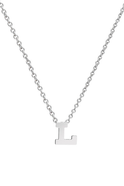 14K Gold Initial Necklace - Onyx and Blush  - 4