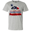 American Bear Flag Asst Colors Mens Lightweight Fitted T-Shirt/tee