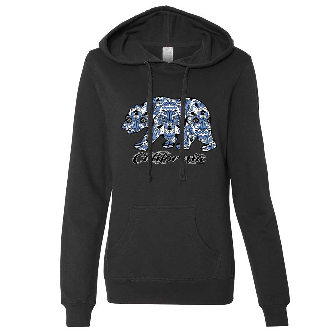 Blue California Republic Bear Ladies Lt./Wt. Hoodie