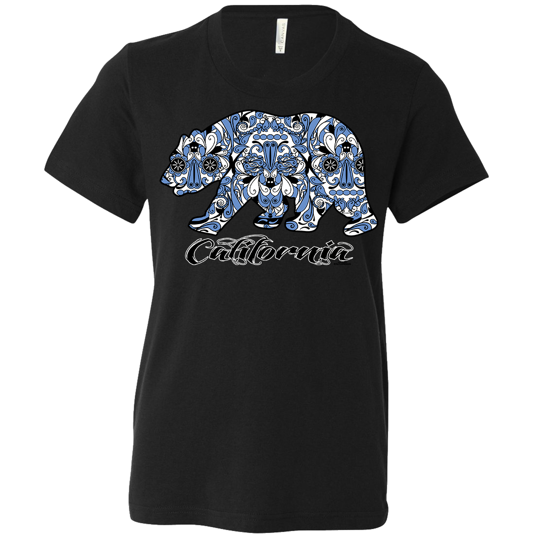 Blue California Republic Bear Asst Colors Youth T-Shirt/tee