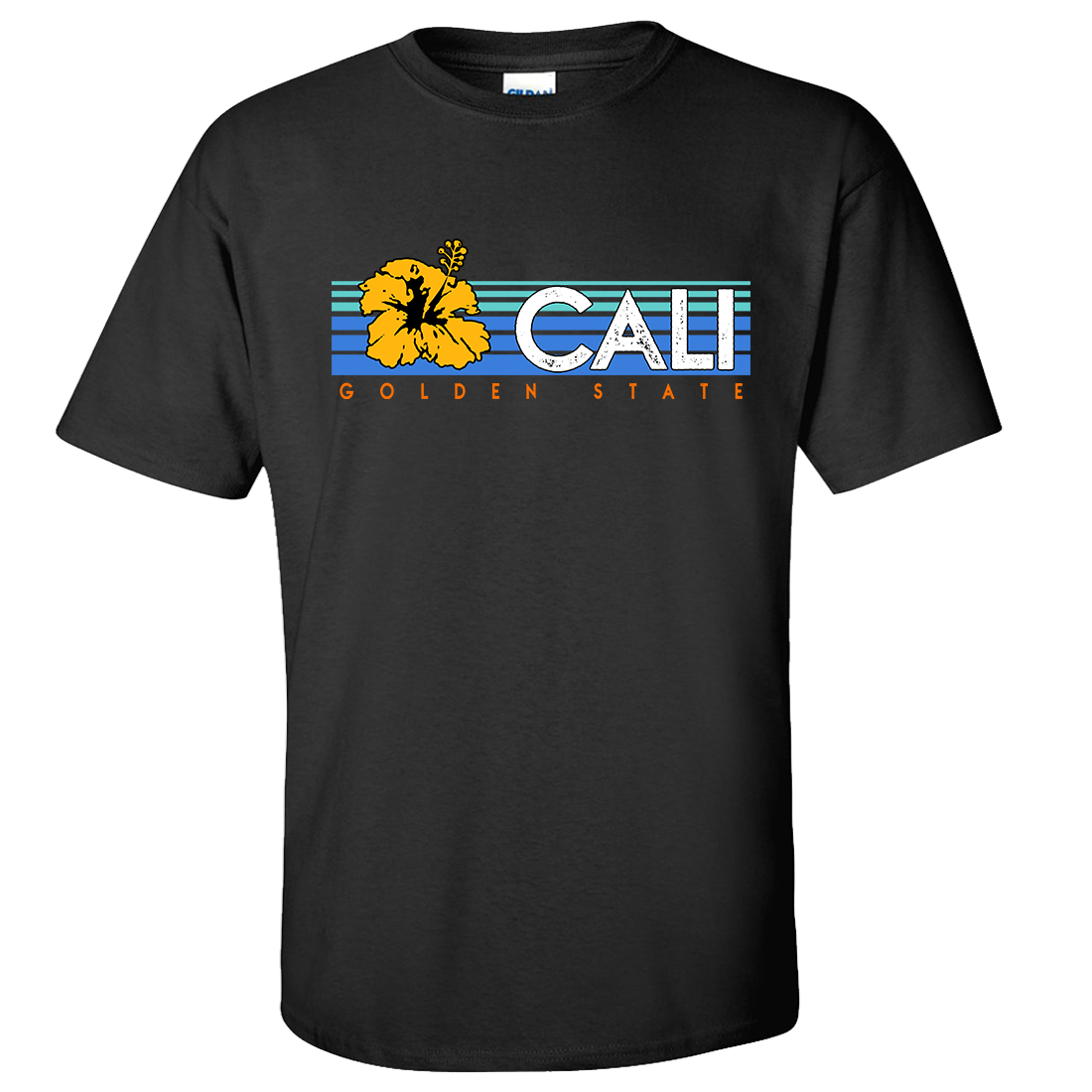 Cali Golden State Hibiscus Asst Colors T-shirt/tee
