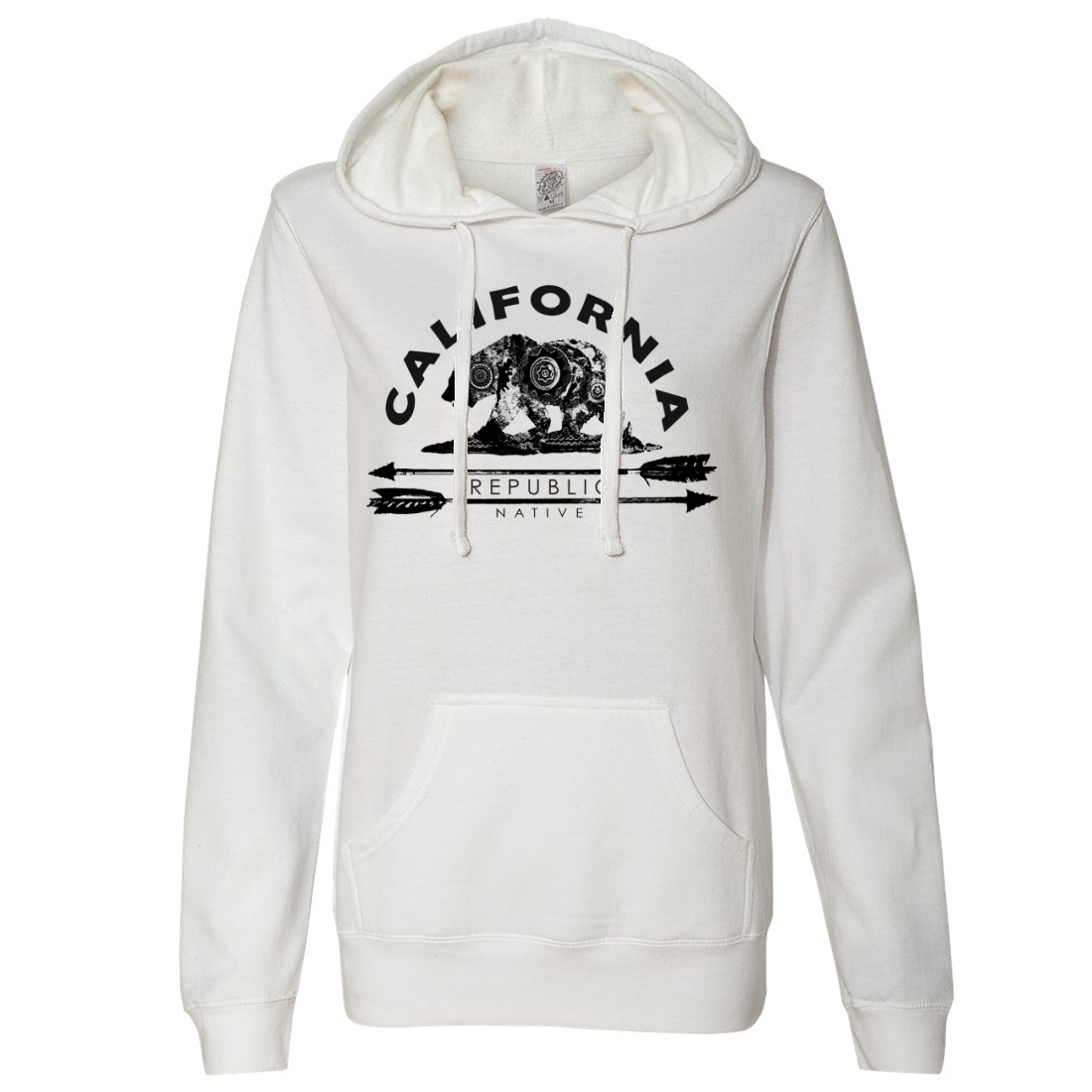 California Arrow Bear Ladies Lightweight Fitted Hoodie