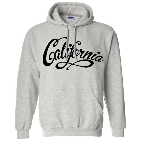 California Beach Script Black Print Sweatshirt Hoodie