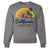 California Classic Sunrise Surfing Crewneck Sweatshirt