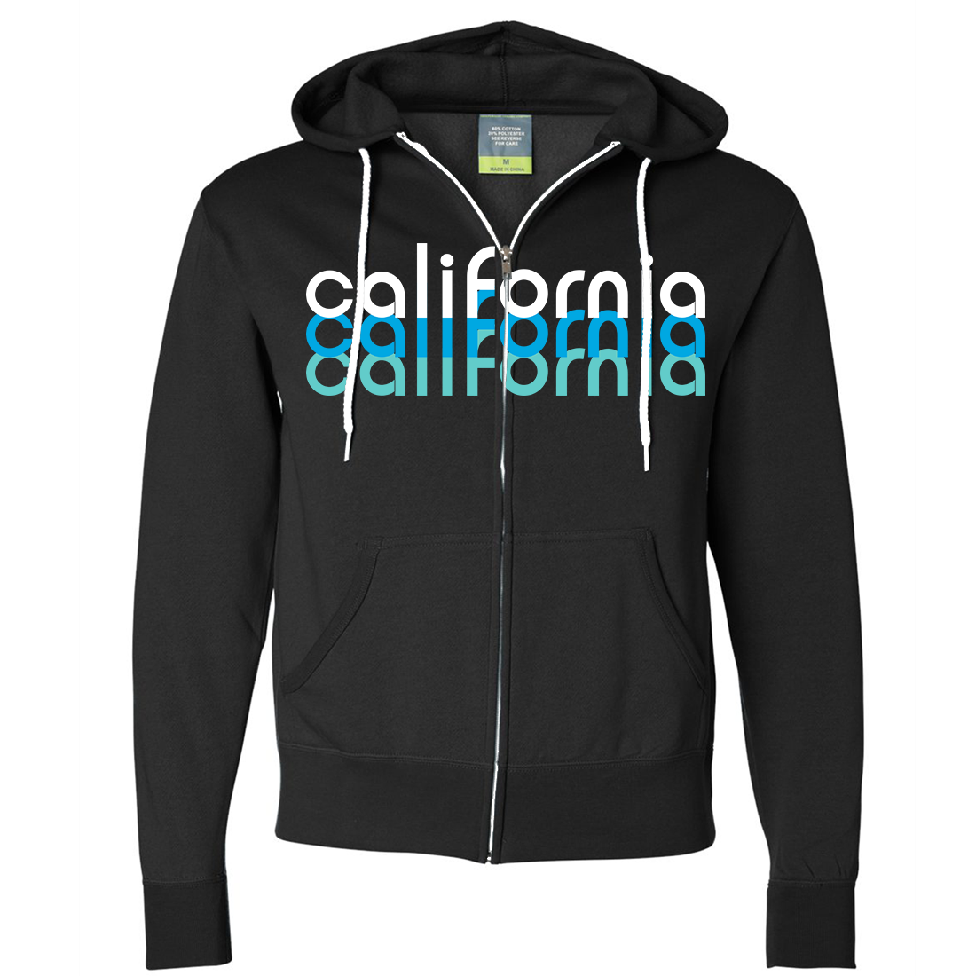 California Cool Stacked Zip-Up Hoodie