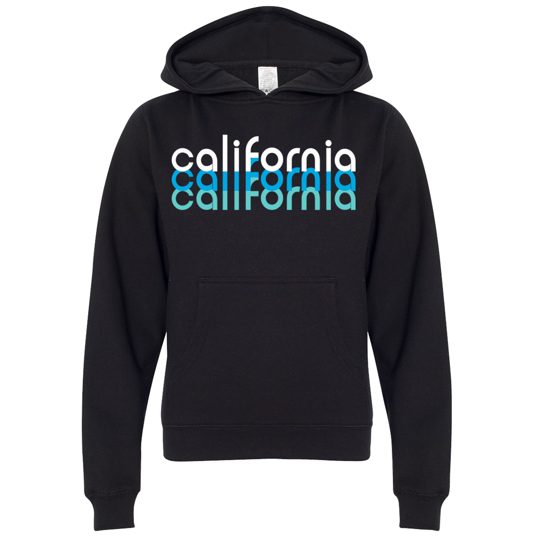 California Cool Stacked Premium Youth Sweatshirt Hoodie