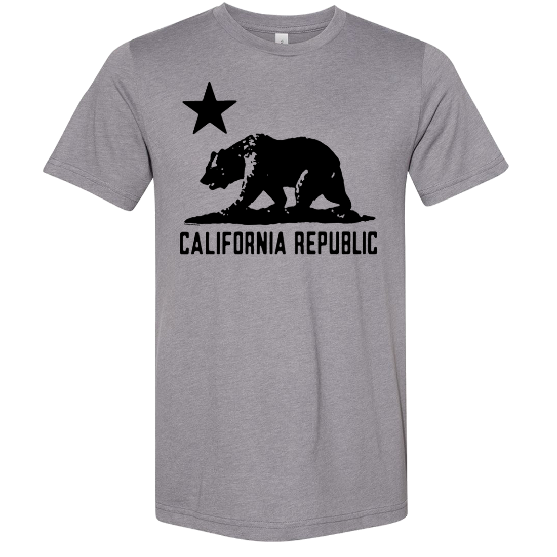 California Flag Oversize Black Silhouette Asst Colors Sueded Tee